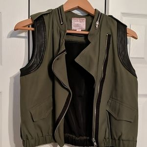 Romeo & Juliet Couture Olive & Black Vest